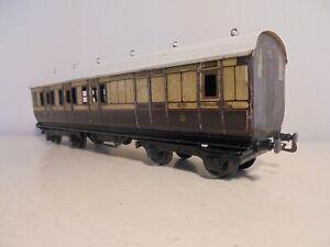 "Bing/Bassett Lowke""O""-1921series-L&NWR Brake/3rd Bogie Coach-good/unboxd-1922"