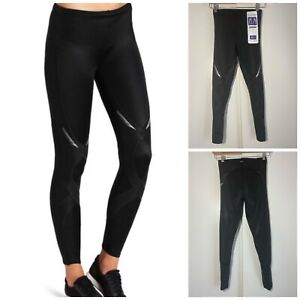 CW-X Women's Stabilyx Joint Support Compression Tights Black Size Small NWT