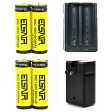 4x 18650 Batteries 9900mAh 3.7v rechargeable Li-Ion Battery 1x 18650 charger