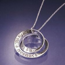 Irish Blessing Necklace Message Inspire God Grant You Angel STERLING SILVER Gift