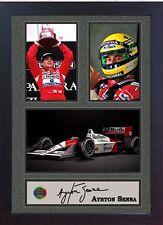 AYRTON Senna Firmato Autografato Memorabilia McLaren-HONDA F1 CHAMPION incorniciato 009