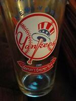 New York Yankees Budweiser 12oz Pub Glass Team Logo 1999 Century's Greatest Team