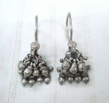 earrings traditional jewelry indian ethnic vintage antique tribal old silver