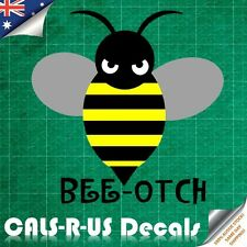 JDM Funny Rude Bee Beeotch Luggage Sticker Skateboard Car Bike Fridge Guitar L1