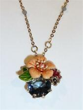CG2571...BEAUTIFUL ENAMELLED FLOWER NECKLACE - FREE UK P&P