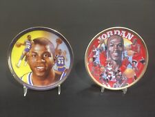 Michael Jordan Magic Johnson Sports Impressions Plates