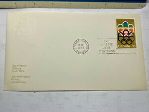 Canada First Day Cover Olympics 1973 set of two