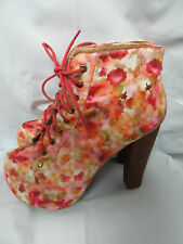 Jeffrey Campbell X Uo Floral Lita Boot New 6.5 NWOB