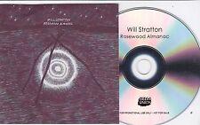 WILL STRATTON ROSEWOOD ALMANAC RARE 10 TRACK PROMO CD