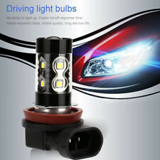 2 x 50W H8 H11 High Power 6000K Super White LED Fog Lights Driving Bulbs