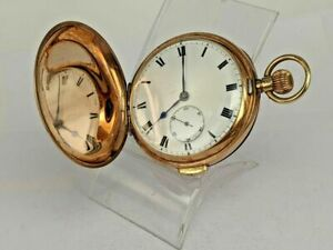 9ct gold hunter repeater pocket watch 1912 the case 55 mms diameter