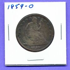 1859-O 50C Toning Liberty Seated Half Dollar .90 Silver .10 Copper