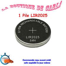 1 pile rechargeable LIR2025 3.6V Li-ion coin battery LIR 2025 batterie CR2025