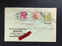 Alliierte Besetzung Einschreiben Eilboten - Stuttgart -Neuötting Bahnpost 1947