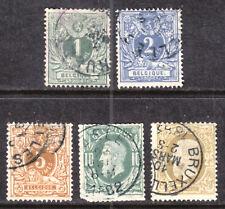 BELGIUM #40-44, 1881 SET/5, F-VF, USED