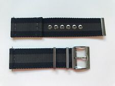 NEW AUTHENTIC GUCCI G COUPE BLUE & GREY  25mm NYLON STRAP FOR YA131203