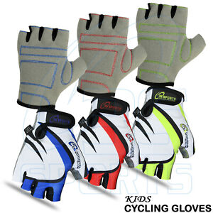 Junior Kids & Girls Cycling Gloves Padded Bicycle Cycle BMX Gloves Children New
