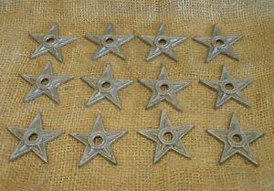"12 Cast Iron Stars Washer Texas Lone Star Ranch 3"" Primitive Raw Craft Decor"