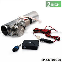 "Universal 2"" Exhaust Pipe Electric I Pipe Exhaust Electrical Cutout With Remote"