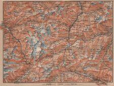 ST GOTTHARD area. Andermatt Engelberg Silenen Gadmen Ulrichen Disentis 1905 map