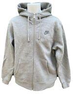 NEW Vintage NIKE Sportswear NSW Mens Training Hoodie Jacket Light Grey M