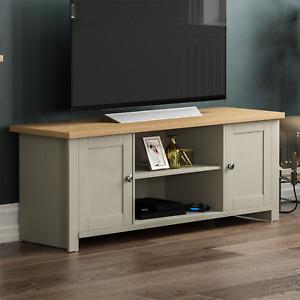 Arlington 2 Door TV Unit Cabinet Stand Sideboard Entertainment Living Room Grey