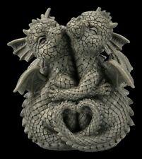 Kleine Gartenfigur - Drachen Paar - Fantasy Drache Drachenkinder Gartendeko