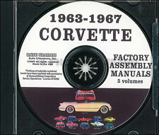 Corvette Factory Assembly Manual on CD 1963 1964 1965 1966 1967 Chevrolet Chevy