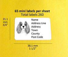 Cavalier King Charles Spaniel 260 CUSTOM Dog Address Labels Stickers