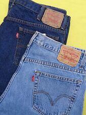 2 Pair LOT Mens LEVIS 36 x 32 Boot Cut 517 Denim Blue Jeans Actual 35 Waist