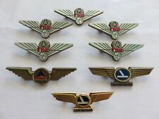 Lot of 8 Vintage Airline Pins TWA, Eastern, Delta, Wings ~ One Gold Tone Metal