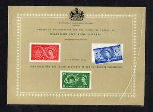 QEII 1957 SCOUT JAMBOREE - HARRISON CARD - ORIGINAL SLEEVE