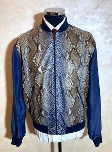 Amazing!!! Hettabretz  Python Leather + Silk Jacket Size 48 (38 US)