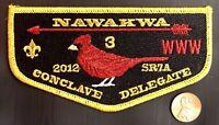 NAWAKWA LODGE 3 OA ROBERT E LEE VA PATCH 2012 SR7A CONCLAVE FLAP GMY DELEGATE