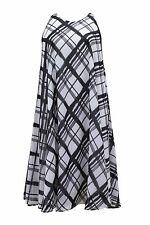 Emily for Simply Be Plus Size Black White Check Print Midi Swing Dress 16 - 26
