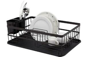 Flat Iron Dish Drainer Black Metal