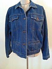 Hunter Club women denim jacket L blue jean button up size L