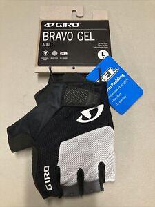 ! Giro Bravo Gel Adult Large Cycling MTB Bike Gloves White/Black