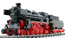 Eisenbahn Dampflok Eigenbau in rot-schwarz mit 9V Motor aus Lego 10205 10194