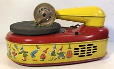 Vintage Lindstrom Child's Electric Phonograph Model 777 Turntable Tin Litho