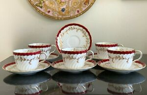 Vintage Aynsley China 8155 Set of Cups and Saucers Plus a Saucer