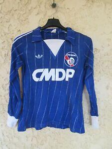 Maillot R.C STRASBOURG 1982 vintage ADIDAS CMDP shirt trikot VENTEX 12 ans