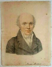 """Francois Marchand Watercolor on Paper, """"Mon maitre"""" 21 x 16cm, 18-19th Century"""