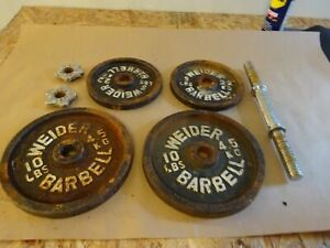 WEIDER 1-inch WEIGHT PLATES  30 POUNDS BARBELL WEIGHTLIFT