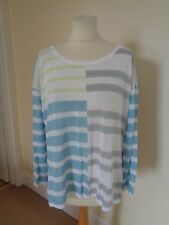 MARC CAIN BLUE AND WHITE STRIPE JUMPER
