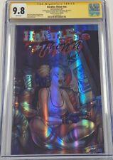 Hardlee Thinn #1 Chromium #'d 9/10 Signed by Alex Kotkin CGC 9.8 SS Harley Quinn