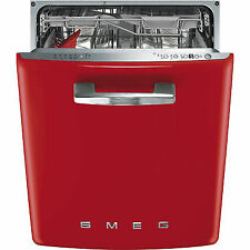 Smeg Di 6 Fabrd Full Size Built in Dishwasher-Red
