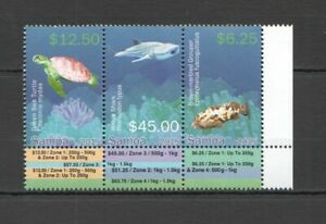 NW0305 2015 SAMOA FISH & MARINE LIFE SHARKS TURTLES !!! MICHEL 50 EURO 1SET MNH