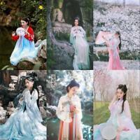 Chinese Ruqun Hanfu Costume Long Robe Fairy Lolita Women's Dress Daily Cosplay