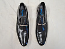 BLUSAKI hand made black leather loafer style shoe   Size 10   Euro 43